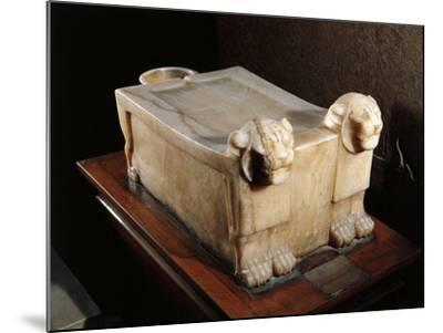 Libation Table or Alabaster Altar, with Lion Heads--Mounted Giclee Print
