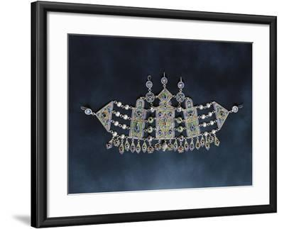 Silver Breastplate with Cloisonne Enamel and Glass, 1900, Algeria--Framed Giclee Print