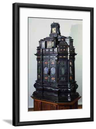 Ebony Cabinet Inlaid with Semiprecious Stones, Italy, 16th Century--Framed Giclee Print