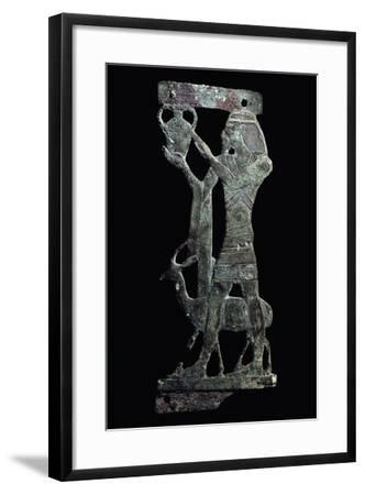 Figure of Tax, Syrian Prince Holding Up His Country's Tax, Bronze, New Kingdom--Framed Giclee Print