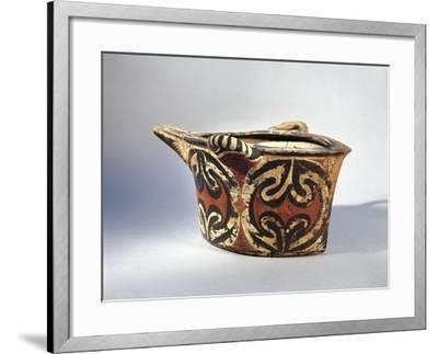 Vase with Spout in Ceramic by Kamares with Polychrome Decoration, from Palace of Festos--Framed Giclee Print