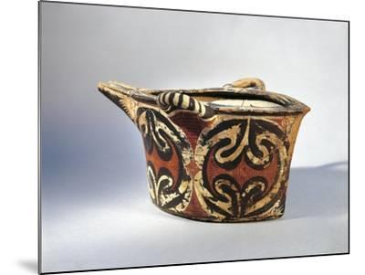 Vase with Spout in Ceramic by Kamares with Polychrome Decoration, from Palace of Festos--Mounted Giclee Print