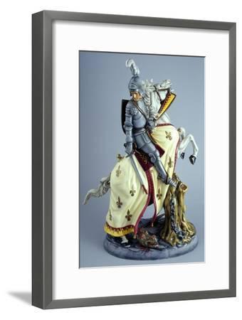 Knight on White Horse, Prestige Series, Ceramic--Framed Giclee Print