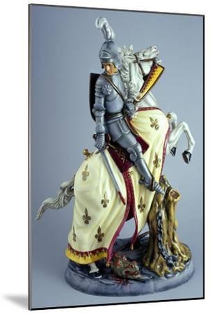 Knight on White Horse, Prestige Series, Ceramic--Mounted Giclee Print
