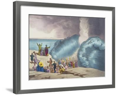 Parting of Red Sea of Old Testament, End of 19th Century by Bequet, Delagrave Edition, Paris--Framed Giclee Print