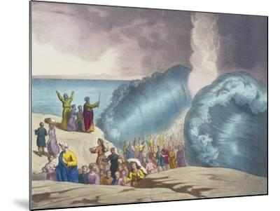 Parting of Red Sea of Old Testament, End of 19th Century by Bequet, Delagrave Edition, Paris--Mounted Giclee Print