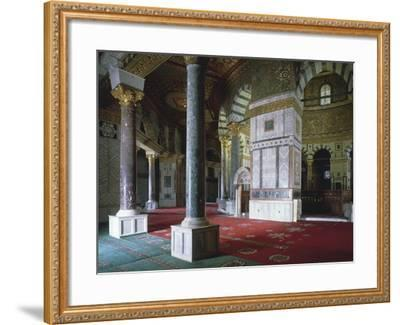 Israel, Jerusalem, Old Town, Temple Mount, Dome of Rock, Interior--Framed Giclee Print