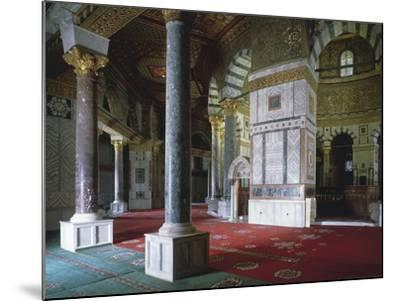 Israel, Jerusalem, Old Town, Temple Mount, Dome of Rock, Interior--Mounted Giclee Print