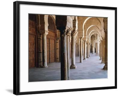 Tunisia, Kairouan Governorate, Kairouan, Kairouan Great Mosque, Colonnade--Framed Giclee Print