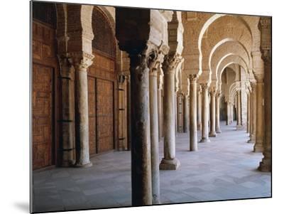 Tunisia, Kairouan Governorate, Kairouan, Kairouan Great Mosque, Colonnade--Mounted Giclee Print
