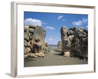 Turkey, Hattusa, the Lions' Gate--Framed Giclee Print