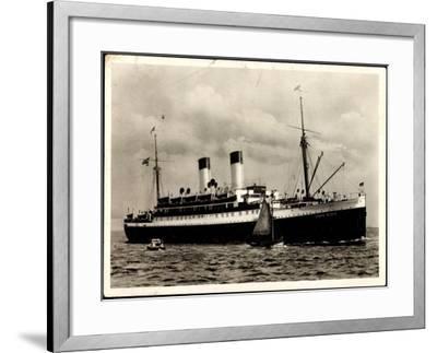 Dampfer Monte Olivia Der HSDG, Segelboot, Beiboot--Framed Giclee Print