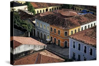 Brazil, Maranhao State, São Luís Island, São Luís, Buildings in Historical Centre--Stretched Canvas Print