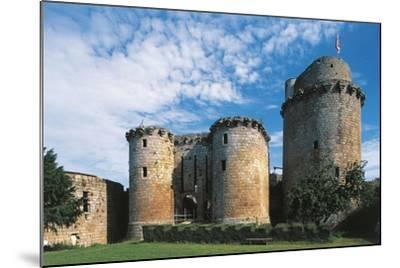 France, Brittany, Tonquedec, Castle--Mounted Giclee Print