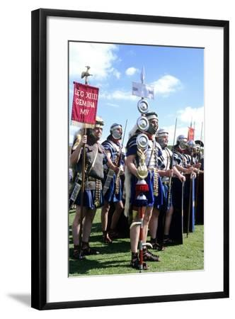 Roman Army, 14th Legion in Britain, Historical Re-Enactment--Framed Giclee Print