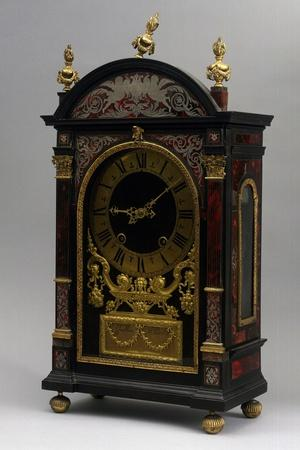 Religieuse Clock, Ebony Clock with Boulle Decorations, Gaudron, Paris, France, Ca 1690--Stretched Canvas Print