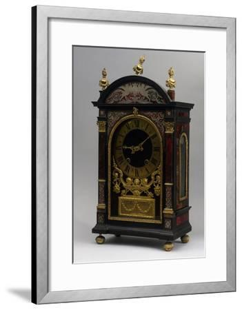 Religieuse Clock, Ebony Clock with Boulle Decorations, Gaudron, Paris, France, Ca 1690--Framed Giclee Print