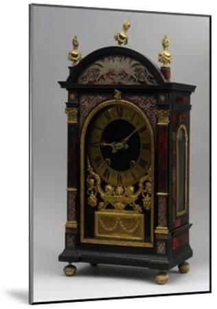 Religieuse Clock, Ebony Clock with Boulle Decorations, Gaudron, Paris, France, Ca 1690--Mounted Giclee Print