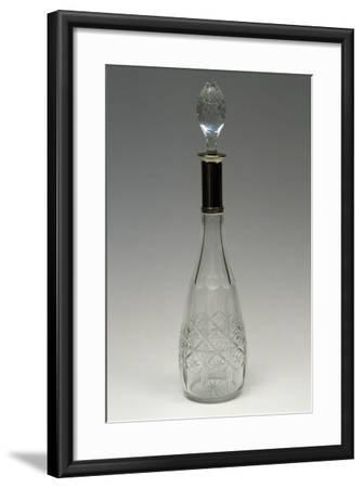 Cut Crystal Bottle with Drop-Shaped Top, Ca 1915, Italy--Framed Giclee Print