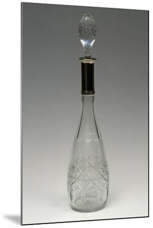 Cut Crystal Bottle with Drop-Shaped Top, Ca 1915, Italy--Mounted Giclee Print