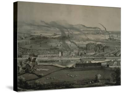 France, Montceau-Les-Mines, View of Montceau-Les-Mines, Mining City with Coal Seams, 1857--Stretched Canvas Print