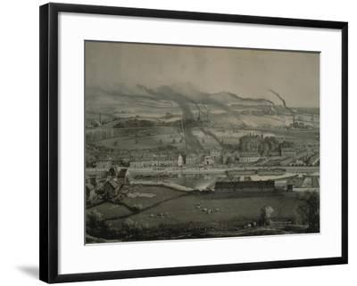 France, Montceau-Les-Mines, View of Montceau-Les-Mines, Mining City with Coal Seams, 1857--Framed Giclee Print