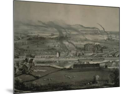France, Montceau-Les-Mines, View of Montceau-Les-Mines, Mining City with Coal Seams, 1857--Mounted Giclee Print