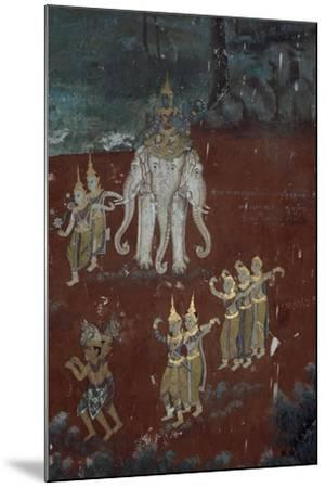 Cambodia, Phnom Penhs in Silver Pagoda--Mounted Giclee Print