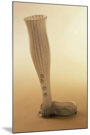 Boot-Shaped Beer Mug, Latticed Glass--Mounted Giclee Print