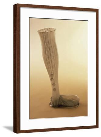 Boot-Shaped Beer Mug, Latticed Glass--Framed Giclee Print