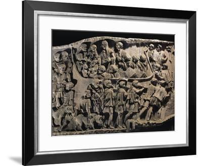 Cast of Trajan's Column, Detail of Departure of Troops to Dacian War--Framed Giclee Print
