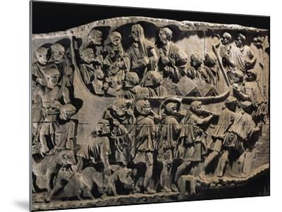 Cast of Trajan's Column, Detail of Departure of Troops to Dacian War--Mounted Giclee Print