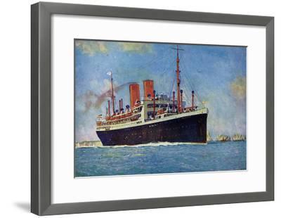 Künstler Norddeutscher Lloyd Bremen, Dampfer Dresden--Framed Giclee Print