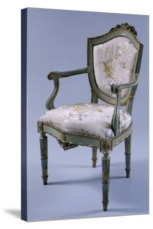 Louis XV-XVI Transition Period Lacquered and Gilt Venetian Armchair, Italy--Stretched Canvas Print