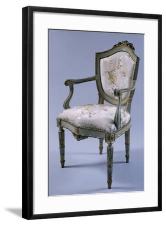 Louis XV-XVI Transition Period Lacquered and Gilt Venetian Armchair, Italy--Framed Giclee Print