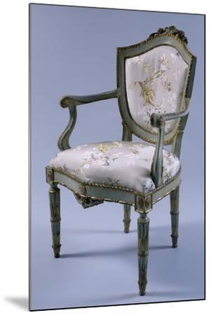 Louis XV-XVI Transition Period Lacquered and Gilt Venetian Armchair, Italy--Mounted Giclee Print