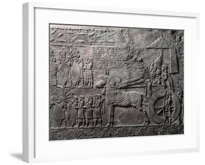 Detail of Relief Depicting Triumph of King Ashurbanipal, from Ancient Nineveh, Iraq--Framed Giclee Print