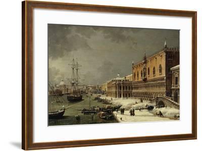 Italy, Trieste, Snow and Fog in Venice--Framed Giclee Print