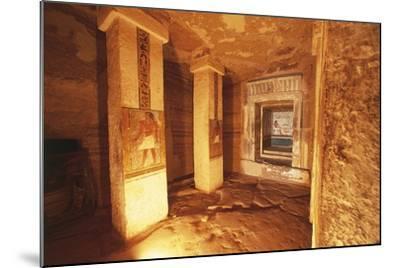 Pillared Chamber at Tomb of Sarenput II--Mounted Giclee Print