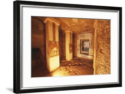 Pillared Chamber at Tomb of Sarenput II--Framed Giclee Print