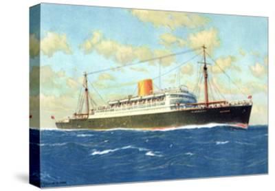 Künstler Norddeutscher Lloyd Bremen, Dampfer Potsdam--Stretched Canvas Print