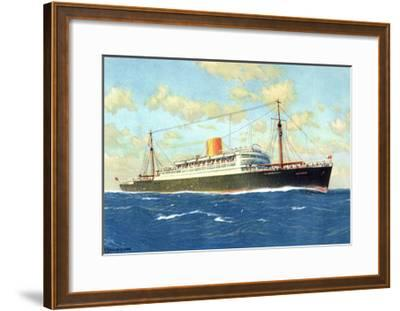 Künstler Norddeutscher Lloyd Bremen, Dampfer Potsdam--Framed Giclee Print