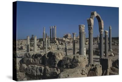 Libya, Tripolitania, Sabratha, Religious Curia Building--Stretched Canvas Print
