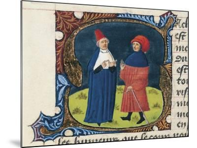Doctor with Student, Miniature from the Treaty of Medicine--Mounted Giclee Print