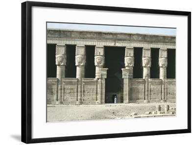 Egypt, Dendera, Temple of Hathor--Framed Giclee Print