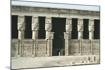 Egypt, Dendera, Temple of Hathor--Mounted Giclee Print