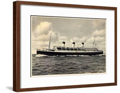 Turbinen Dampfer Cap Arcona Der HSDG--Framed Giclee Print