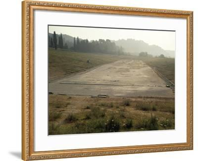 Greece, Stadium Running Track at Archaeological Site of Olympia--Framed Giclee Print