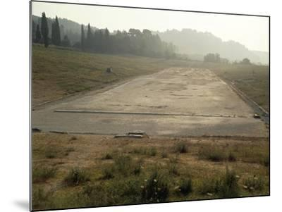 Greece, Stadium Running Track at Archaeological Site of Olympia--Mounted Giclee Print