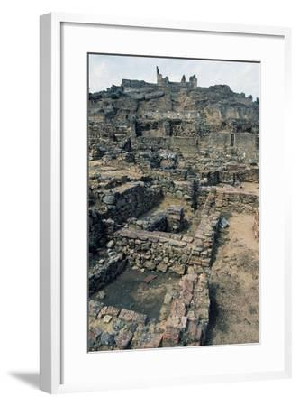 View of Mulva, with the Sanctuary on the Hill, Andalusia, Spain--Framed Giclee Print